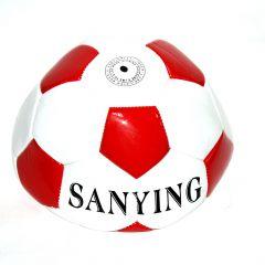 Футбольний м'яч (білий з червоним), L651-1