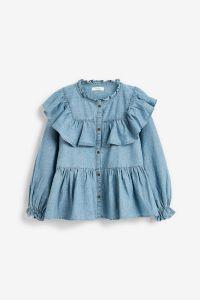 Блуза з рюшами з органічної бавовни