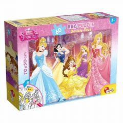 Пазл двосторонній Disney Princess / Принцеси Дісней, Maxi 60 шт, 48250, LISCIANI