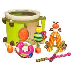 Музична іграшка - ПАРАМ-ПАМ-ПАМ (7 інструментів в барабані), Battat BX1007Z
