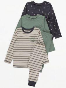 Трикотажна піжама для хлопчика 1шт. (темно-сіра)