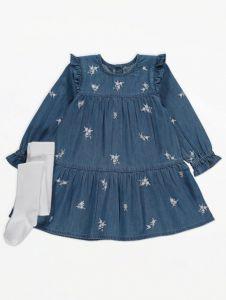 Плаття з колготками для дівчинки
