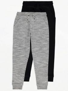Спортивні штани з флісовою байкою всередині 1 шт. (чорні)