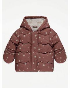 Тепла куртка з плюшевою підкладкою для дівчинки