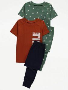 Трикотажна піжама для хлопчика 1шт. (гірчична футболка і сині штани)