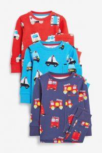 Пижама для ребенка 1шт. (синяя с принтом)