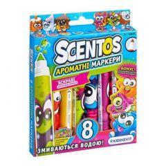 Набір ароматних маркерів для малювання плавних ліній Scentos 8 кольорів (40605)