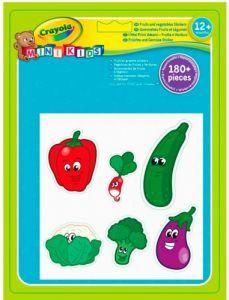 """Набір багаторазових наліпок """"Овочі та фрукти"""", Mini Kids, Crayola 81-2010"""