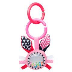 Іграшка-брязкальце Zig Zag (рожева), Canpol Babies 68/058_pin