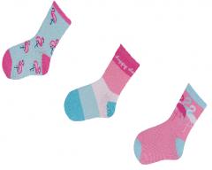 """Набір шкарпеток для дівчинки """"Фламінго"""" (3 пари), YOclub SK-24"""