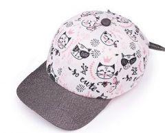 """Модна кепка для дівчинки """"Міларейт"""" біла, 19-03-009"""