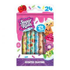 Набір ароматних воскових олівців Scentos Sugar Rush Феєрія Квітів 24 кольору (30008)