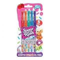 Набір ароматних гелевих ручок Scentos Sugar Rush Яскравий Блиск 5 кольорів (41343)