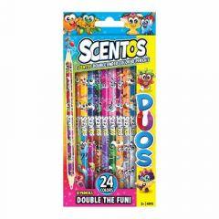 Набір ароматних олівців Scentos Подвійні веселощі 12 штук (49115)