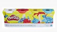 Набір пластиліну Dino (4 баночки), Play-Doh B6508/B5517/6003219