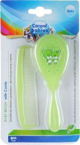 Щітка і гребінець для волосся Canpol babies 2/419 (зелена)