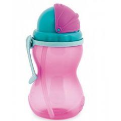 Бідончик спортивний з трубочкою Canpol Babies 56/113 (рожевий)