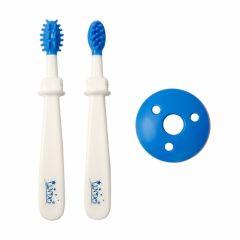 Набір зубних щіток 2шт. (біло-cині), Lindo PK072