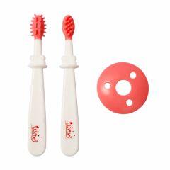 Набір зубних щіток 2шт. (біло-рожеві), Lindo PK072