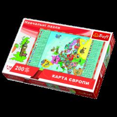 """Пазли навчальні - """"Карта Європи для дітей"""" (україномовна версія) Trefl 15530"""