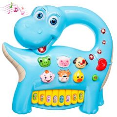 "Інтерактивна панель ""Музичний динозавр"" (блакитна), BeBeLino 58090"