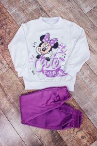 """Трикотажний комплект з начосом для дівчинки """"Minnie Mouse/Минни Маус"""", 6063-023-33-v1"""