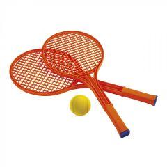 """Гра """"Теніс з ракетками і м'ячем"""", Ecoiffier 000190 (червоний)"""