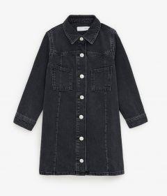 Джинсовое платье-рубашка для девочки