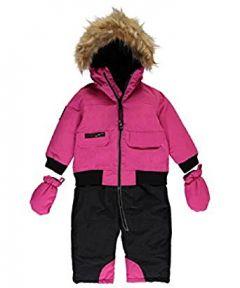 Зимний комбинезон для девочки (сплошной - имитация штанов и куртки)