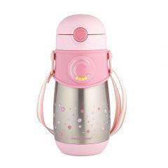 Термо-бідончик із силіконовою трубочкою (300 мл), Canpol Babies 74/054_pin (рожевий)