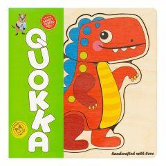 """Дерев'яний пазл-мозаїка """"Динозавр"""", Quoka010PM"""