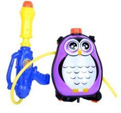 """Водний пістолет з баком для води """"Сова"""" (1.5 л), Zhida Toys 1010-21 фіолетовий"""
