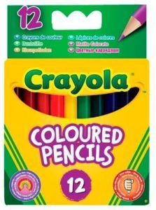 Короткі кольорові олівці (12 шт), Crayola 4112