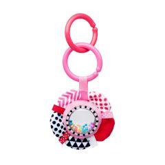 Іграшка-брязкальце Zig Zag (рожева), Canpol Babies 68/057_pin