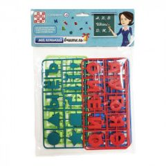 """Дитячий набір """"Маленький учитель"""" (літери укр/рос.,знаки, фігури), Numo Toys NT22482"""