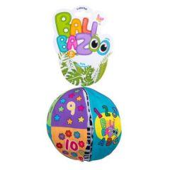 Плюшевый развивающий мяч для младенцев (15 см.), Balibazoo 80202