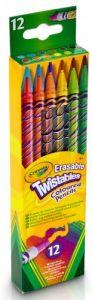 Кольорові олівці, які викручуються, з гумками (12 шт), Crayola 68-7508