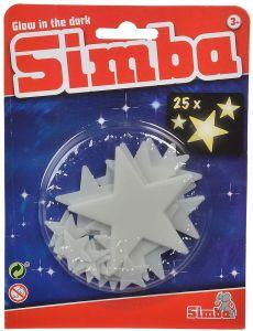 """Набір флуоресцентних елементів """"Сяючі зірки"""" (25 шт.), Simba 107822342"""