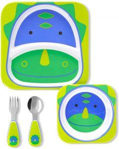 """Подарунковий набір дитячого посуду """"Динозавр"""", Skip Hop 9L751610"""