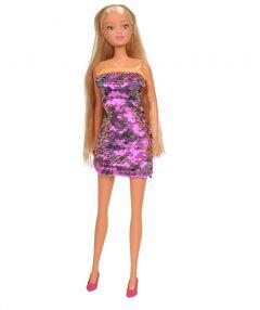 Лялька Штеффі в платті з двосторонніми паєткам (світло-рожеве), Steffi Love 105733366
