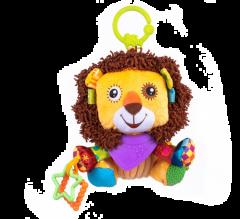 """М'яка іграшка з прорізувачем лев """"ЛЕОН"""" Balibazoo 86315"""