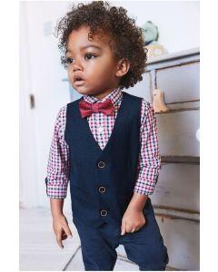 Комплект із жилетки, сорочки та метелика для хлопчика
