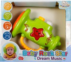 """Игрушка для детей музыкальная развивающая """"Туба"""" (салатовая), Lindo А 659"""