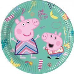 Паперові тарілки PEPPA PIG / Свинка Пеппа 20 см  (8 шт), 91136