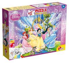 Пазл двосторонній Disney Princess / Принцеси Дісней, Maxi 108 шт, 48274, LISCIANI