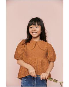 Стильна блуза з прошви для дівчинки