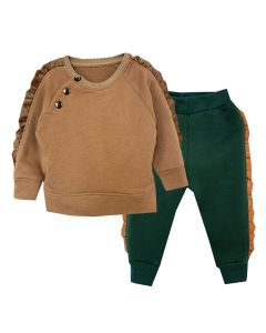 Теплий трикотажний костюм для дівчинки, 8813