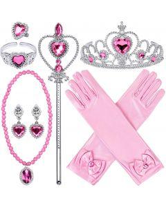 """Набір аксесуарів """"Princess Dress Up Accessories"""" (9шт) рожевий, Disney GZTZ-05"""
