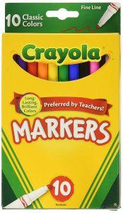 Набір маркерів з вузьким наконечником, 10 шт., Crayola 58-7726
