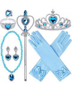 """Набір аксесуарів """"Princess Dress Up Accessories"""" (9шт) блакитний, Disney GZTZ-03"""